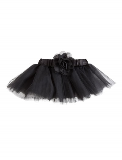 0-18 Months Black Tutu with Flower