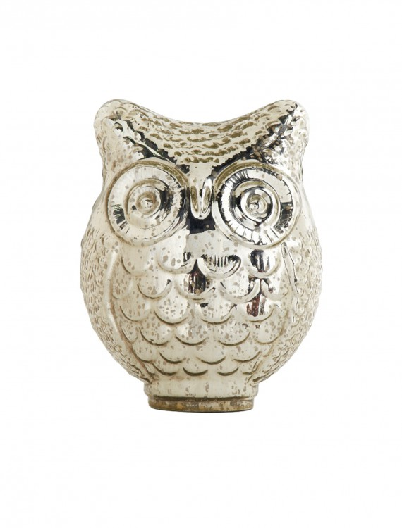 10 Inch Mercury Owl with Large Eyes