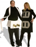 Plug Socket Couples Set Adult Plus Costume