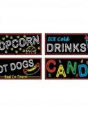 Neon Food Sign Cutouts (4 count)