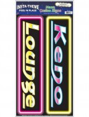 Keno Lounge Neon Casino Signs Peel 'N Place (2 count)