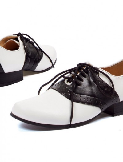 Saddle (Black/White) Adult Shoes