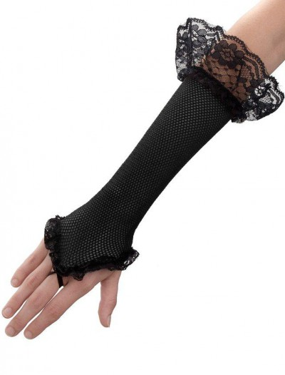 Black Mesh Fingerless Gloves