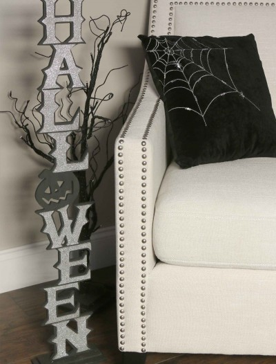 36 Silver Vertical Halloween Cutout