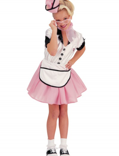 50s Child Soda Pop Girl Costume