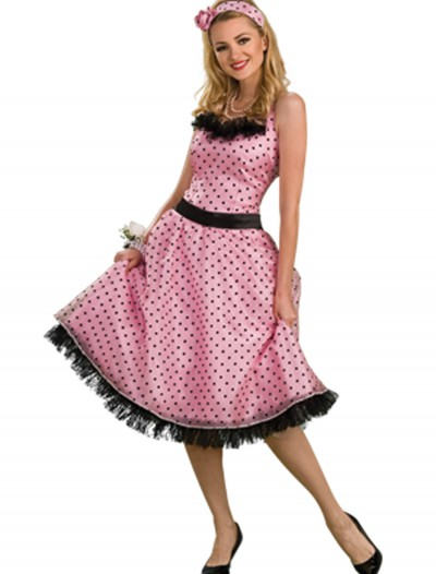 50s Polka Dot Prom Dress