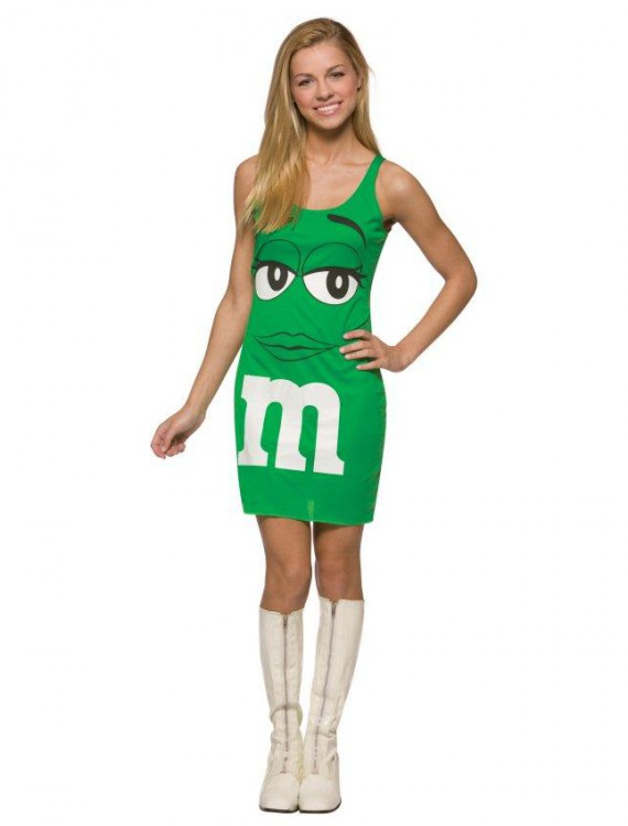 MM Green Tank Dress Teen Costume