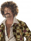 Disco Dirt Bag Wig Moustache Adult