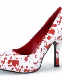 Red Blood Splatter Shoes Adult White
