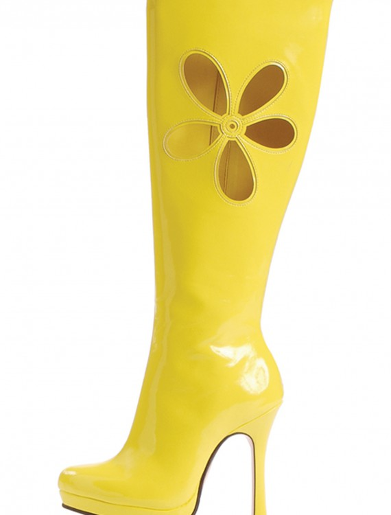 70's Yellow Ladies Boots