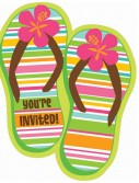 Flip Flop - Invitations (50 count)