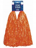 Plastic Pom Poms - Orange (2 count)