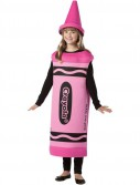 Crayola Tickle Me Pink Crayon Tween Costume
