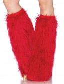 Furry Red Adult Leg Warmers