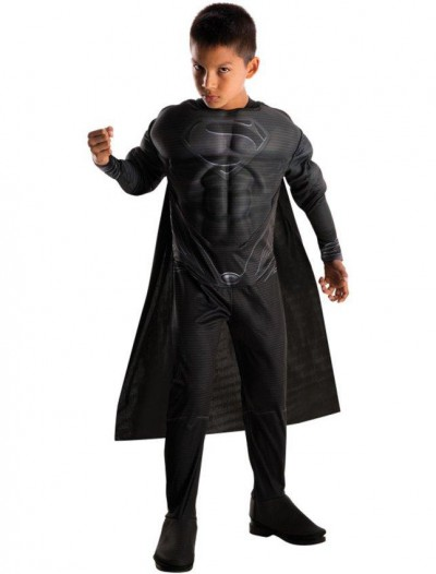 Superman Man of Steel Black Deluxe Child Costume