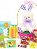 White Bunny Easter Basket