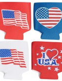 Patriotic Foam Can Covers
