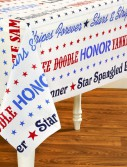 Patriotic Stars Plastic Tablecover