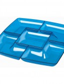 Blue Plastic Chip and Dip Tray