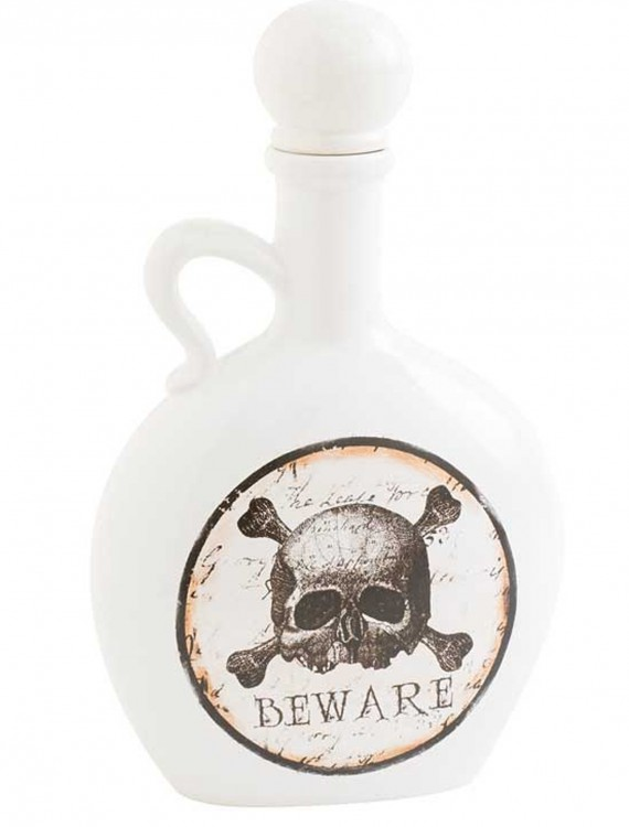 8.5 White and Brown Bottle with Skull & Crossbones