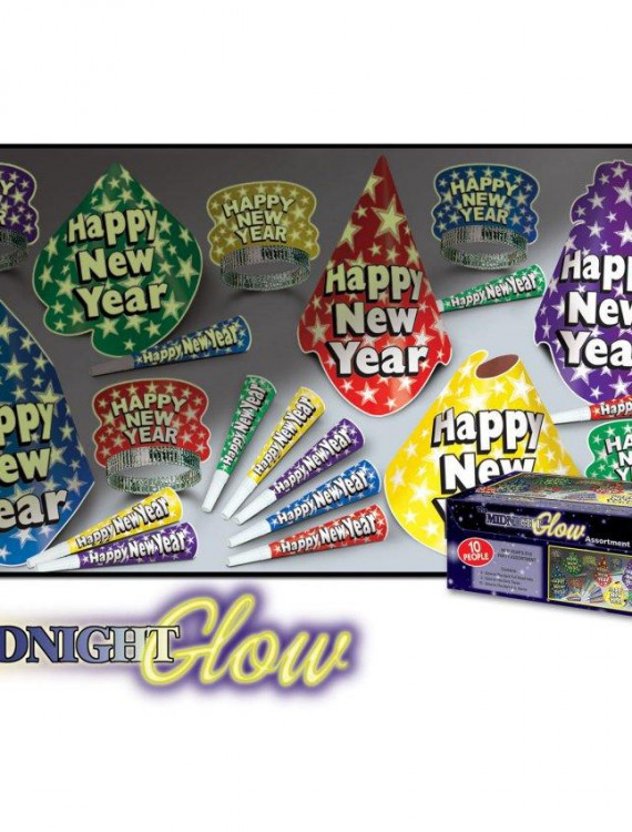 New Year Midnight Glow in the Dark Kit for 10