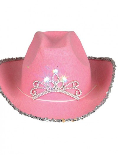 Blinking Pink Tiara Cowboy Hat (Child)