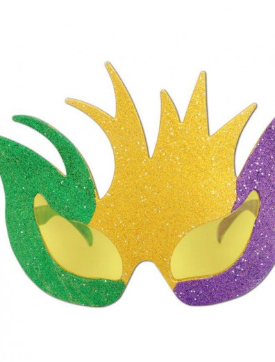 Mardi Gras Glittered Mask Fanci-Frames