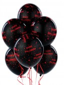 Gruesome Halloween 11 Black Latex Balloons (6 count)