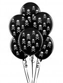 Black with White Skulls 11 Matte Balloons (6 count)