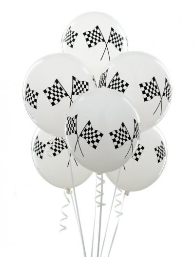 11 Racing Flags Balloons (6 count)