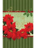 Vintage Poinsettia Plastic Tablecover