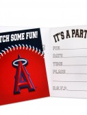 Los Angeles Angels Invitations (8 count)