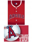 Los Angeles Angels Baseball - Invitation and Thank You Combo (8 each)