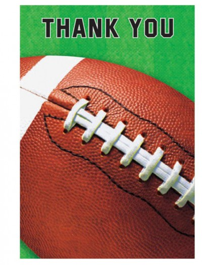 Football Fan - Thank You Cards (8 count)