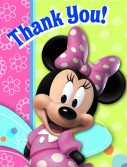 Disney Minnie Mouse Bow-tique Thank You Cards (8 count)