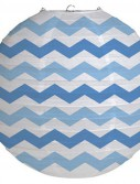 12 Round Paper Chevron Lantern - True Blue