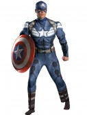 Adult Captain America Movie 2 Classic Muscle Costume