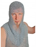 Adult Galvanized Iron Chainmail Hood