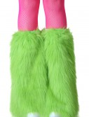 Adult Green Furry Boot Covers