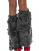 Adult Grey Furry Boot Covers