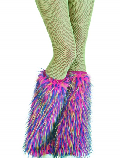Adult Multicolor Furry Boot Covers