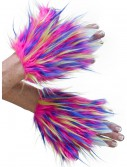 Adult Multicolor Furry Hand Covers