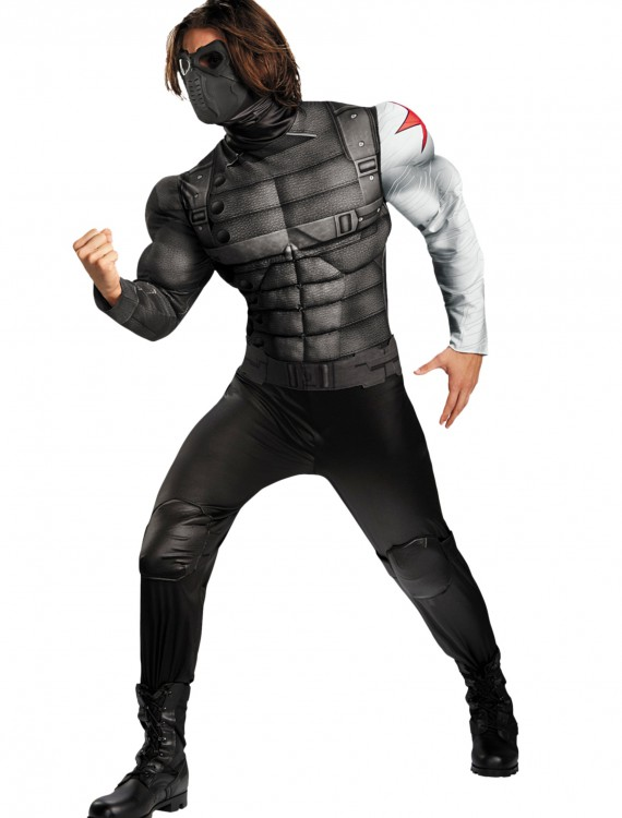 Adult Plus Size Winter Solder Classic Muscle Costume