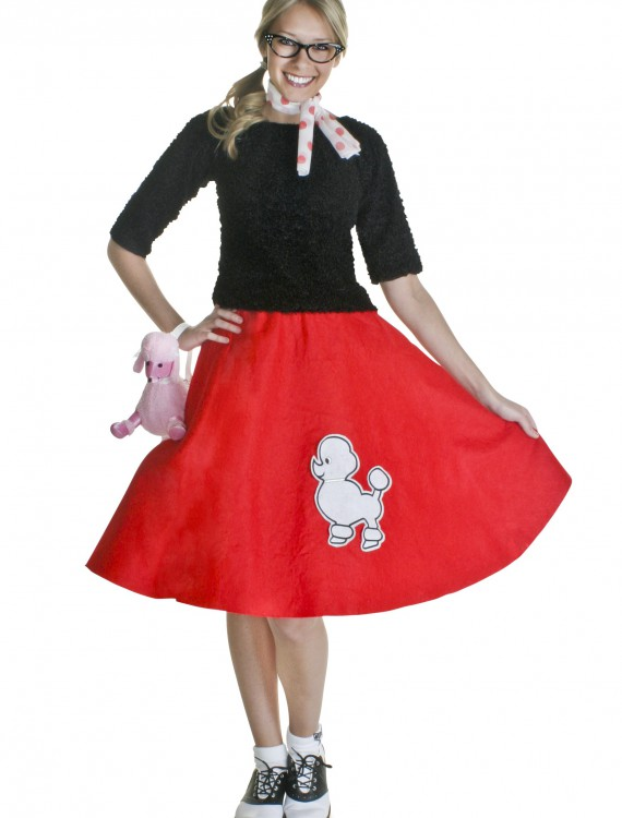 Adult Red 50s Poodle Skirt