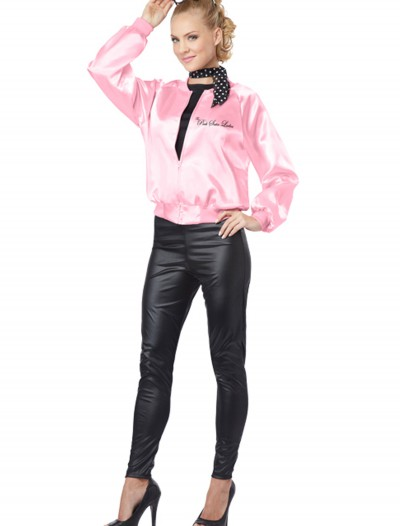 Adult Pink Satin Ladies Jacket