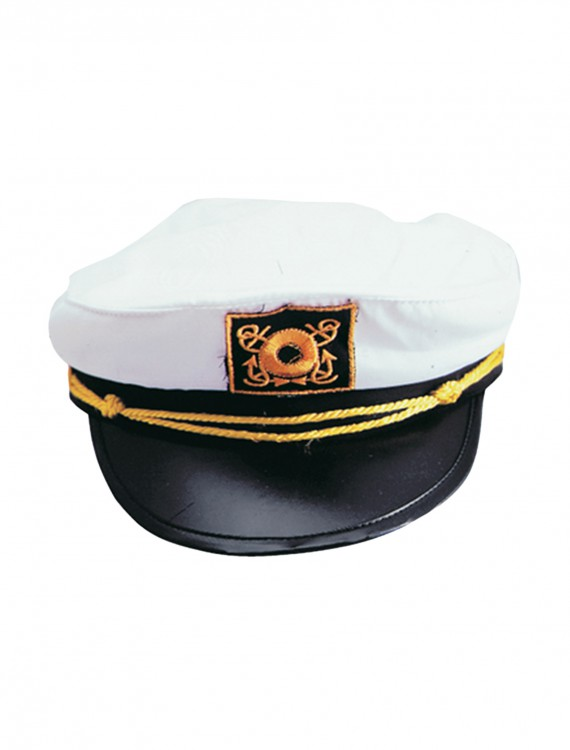 Adult White Yacht Cap