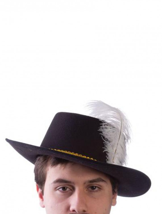 Adult Wool Musketeer Hat with Feather