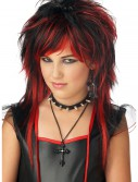 Black and Red Rebel Wig