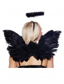 Black Angel Wings and Halo Set
