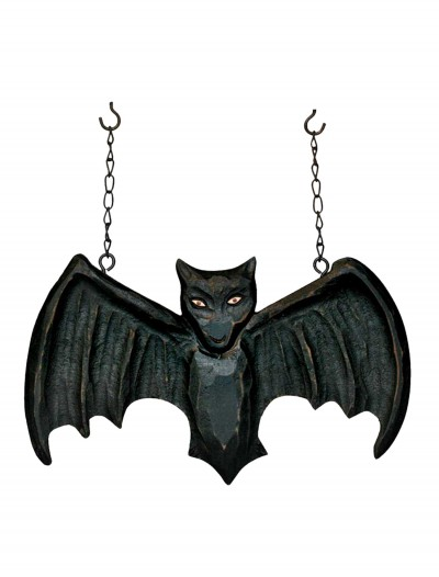 Black Bat Hanging Sign